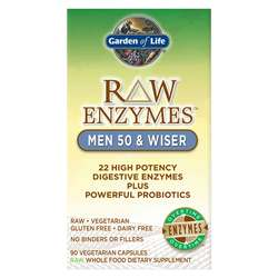 Garden of Life RAW Enzymes Men 50 and Wiser