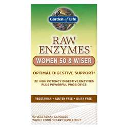 Garden of Life RAW Enzymes Women 50 and Wiser