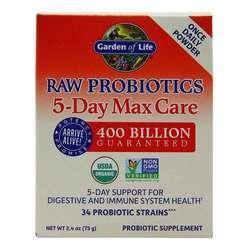 Garden of Life RAW Probiotics 5-Day Max Care