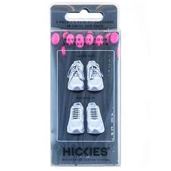 Hickies No Tie Shoelaces - Black  Pink