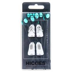 Hickies No Tie Shoelaces - Black  Mint