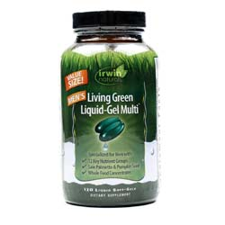 Irwin Naturals Men's Living Green Liquid-Gel Multi