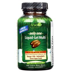 Irwin Naturals Only One Liquid Gel Multi with Iron
