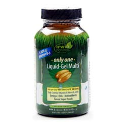 Irwin Naturals Only One Liquid Gel Multi without Iron