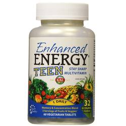 Kal Enhanced Energy TEEN Whole Food Multivitamin