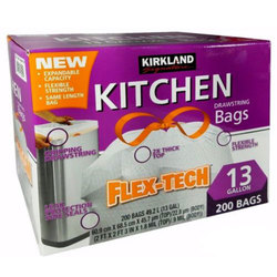 Kirkland Signature Flex-Tech Drawstring Kitchen Bags