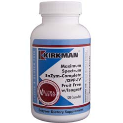 Kirkman Labs Maximum Strength Enzym-Complete  DPP-IV Fruit Free with Isogest