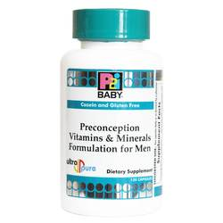 Kirkman Labs P2i Baby Preconception Vitamins  Minerals Formulation for Men