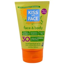 Kiss My Face Organics Face  Body Mineral Sunscreen