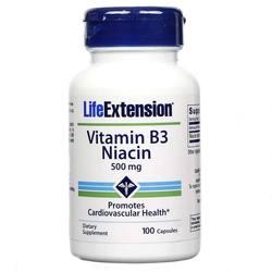 Life Extension Vitamin B3 Niacin 500 mg