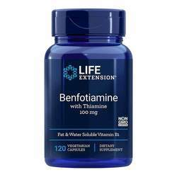 Life Extension Benfotiamine with Thiamine 100 mg