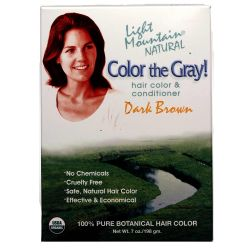 Light Mountain Color the Gray! Natural Hair Color and Conditioner