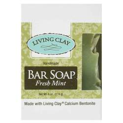 Living Clay Fresh Mint Bar Soap