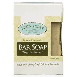 Living Clay Bar Soap Tangerine Almond (Carton) 4oz