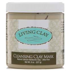 Living Clay Cleansing Clay Mask- Cream- Fragrance Free (Jar) 8oz