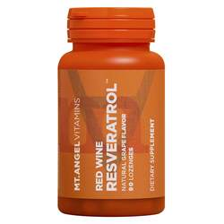 Mt Angel Vitamins Red Wine Resveratrol Lozenges
