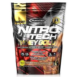 MuscleTech Nitro Tech 100% Whey Gold Double Rich Chocolate