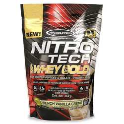 MuscleTech Nitro Tech 100% Whey Gold French Vanilla Creme