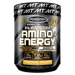 MuscleTech Essential Series Platinum Amino Energy Plus Tropical Mango