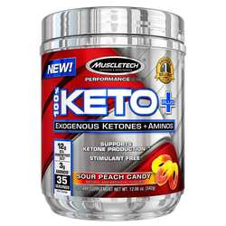 MuscleTech Performance Series 100% Keto Plus Sour Peach Candy