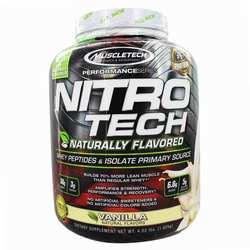 MuscleTech Performance Series Nitro Tech Naturally Flavored Vanilla