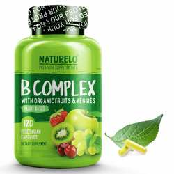 NATURELO B Complex Plant Based with Organic Fruits and Veggies