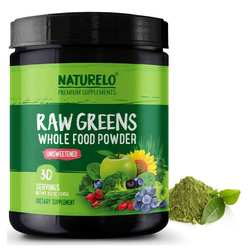 NATURELO Raw Greens powder Unsweetened 240 g