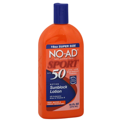 NO-AD Suncare Sport Active Sunscreen