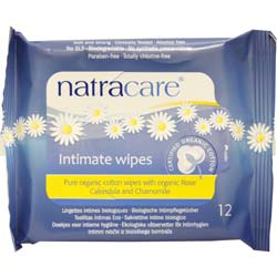 Natracare Organic Cotton Intimate Wipes
