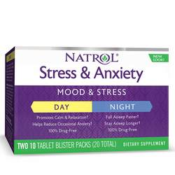 Natrol Stress and Anxiety - Day and Nite