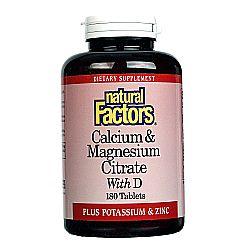 Natural Factors Calcium  Magnesium Citrate With D