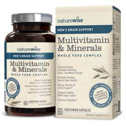 NatureWise Men's Multivitamin Mineral Whole Food Complex with Brain Support