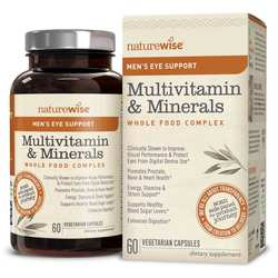 NatureWise Men's Multivitamin Mineral Whole Food Complex with Eye Support