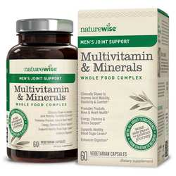 NatureWise Men's Multivitamin Mineral Whole Food Complex with Joint Support