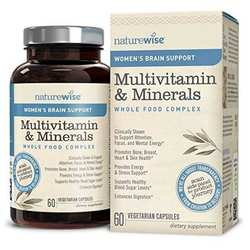 NatureWise Women's Multivitamin Mineral Whole Food Complex with Brain Support