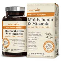 NatureWise Women's Multivitamin Mineral Whole Food Complex with Eye Support