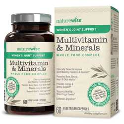NatureWise Women's Multivitamin Mineral Whole Food Complex with Joint Support