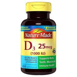 Nature Made Vitamin D3 25 mcg