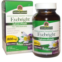 Nature's Answer Eyebright Herb 800 mg