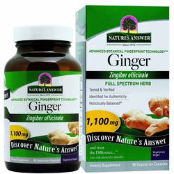 Nature's Answer Ginger Rhizome 1-100 mg