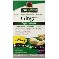 Nature's Answer Ginger Rhizome Standardized Extract 125 mg