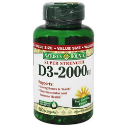 Nature's Bounty Super Strength Vitamin D3