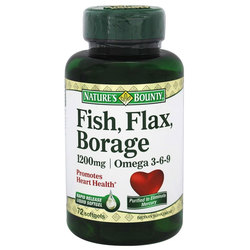 Nature's Bounty Fish- Flax- Borage