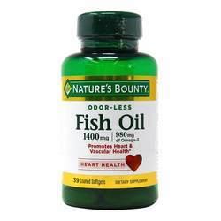 Nature's Bounty Odor-Less Triple Strength Fish Oil
