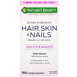 Nature's Bounty Optimal Solutions Extra Strength Hair- Skin  Nails