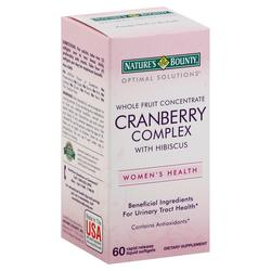 Nature's Bounty Optimal Solutions Cranberry Complex