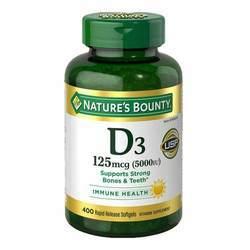 Nature's Bounty Vitamin D3 125 mcg (5000 IU)