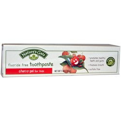 Nature's Gate Fluoride Free Cherry Gel Toothpaste For Kids