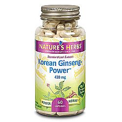 Nature's Herbs Ginseng Power - Korean 430 mg