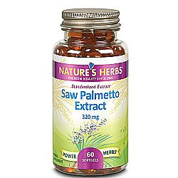 Nature's Herbs Saw Palmetto Extract 320 mg
